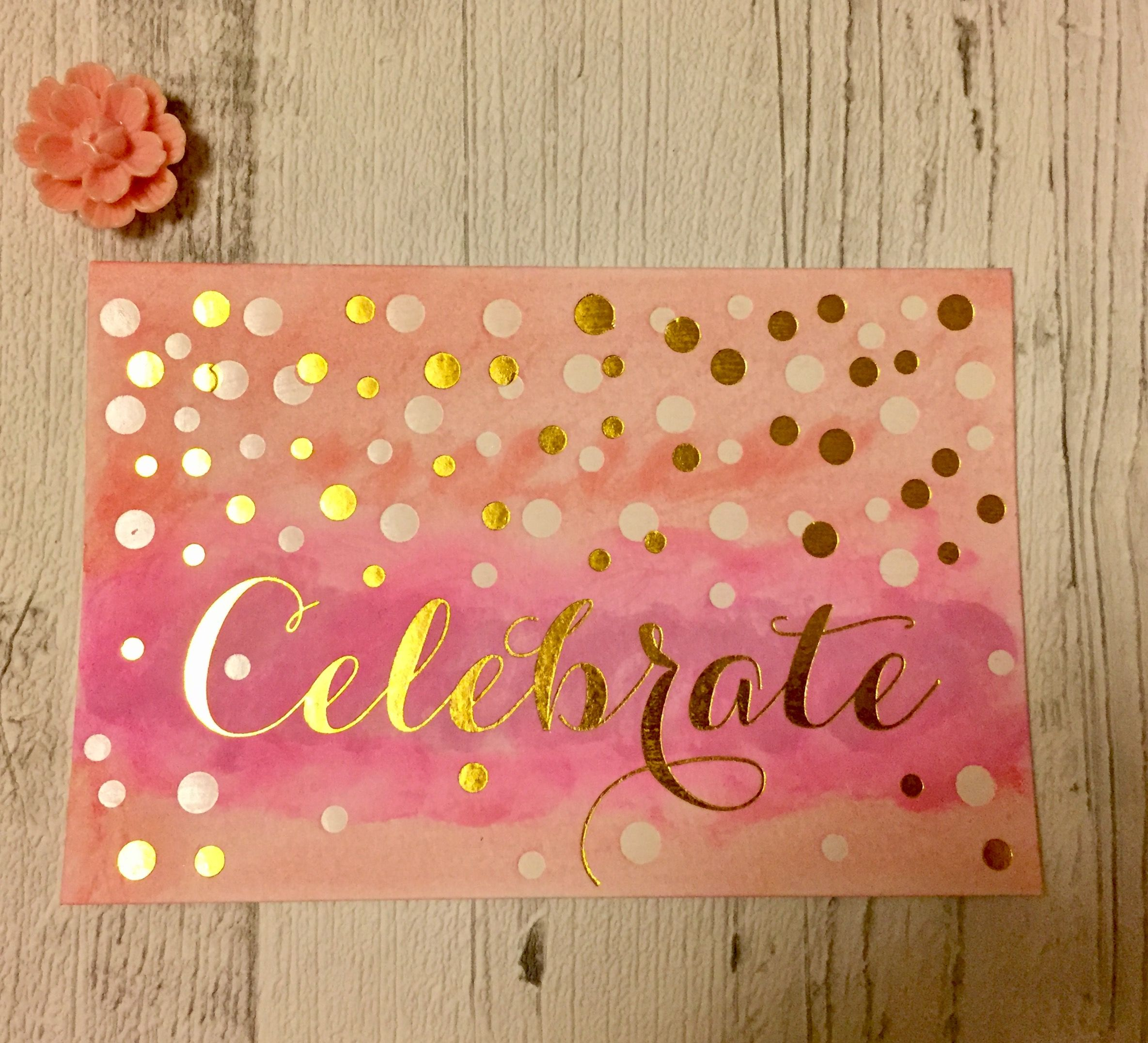 watercolour celebration greetings cards. These would make