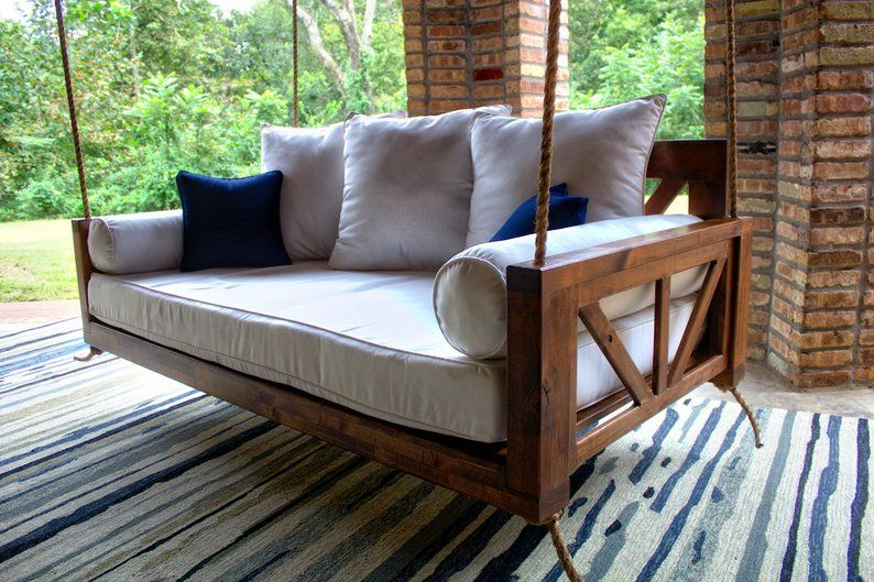 Avery Wood Twin Porch Swing Bed Daybed Porch Swing Bed Daybed