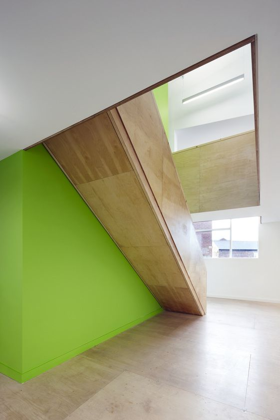 *modern architecture, interiors, stairs, green accents* - Shoreham Street—Project Orange: stairs.