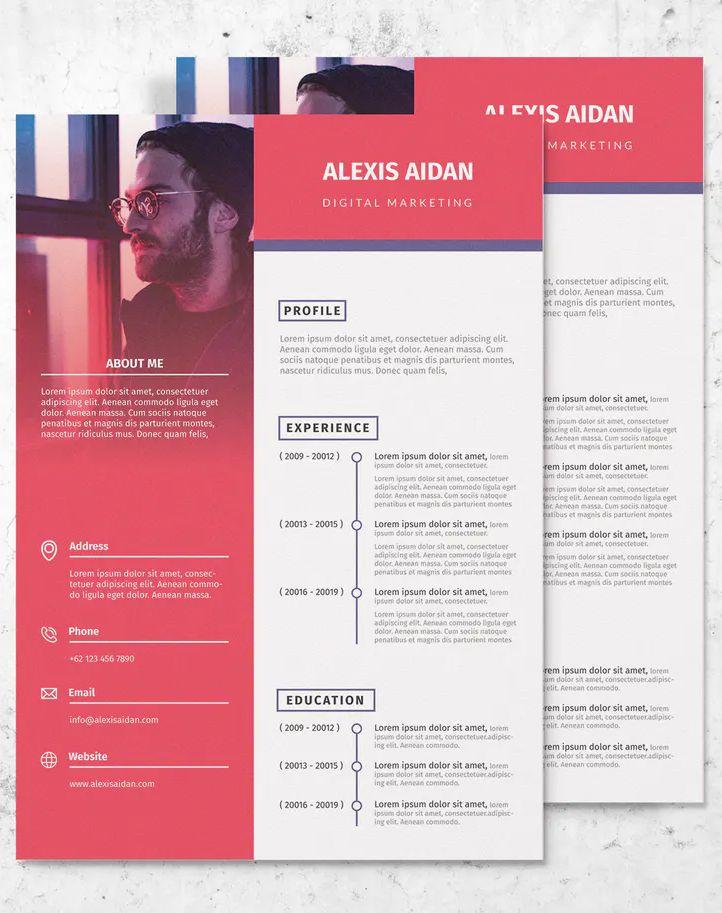 Digital marketing template cv resume vol 3 by