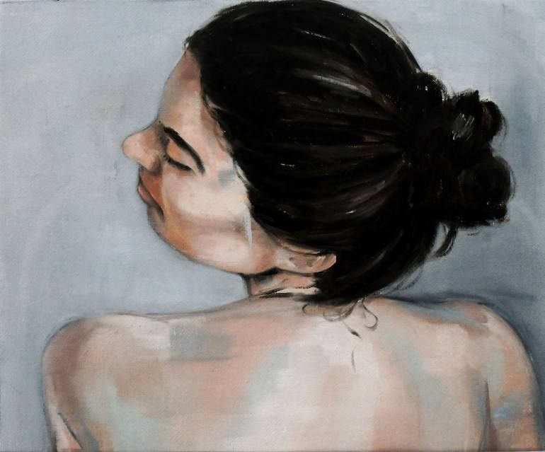 "Saatchi Art Izvajalec Julien Legars;  Slikarstvo, ""Tiffany"" #art"