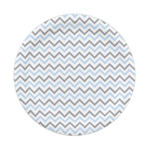 Modern Blue \u0026 Grey Chevron Paper Plates 7 Inch Paper Plate  sc 1 st  Pinterest & Modern Blue \u0026 Grey Chevron Paper Plates 7 Inch Paper Plate | Mod ...