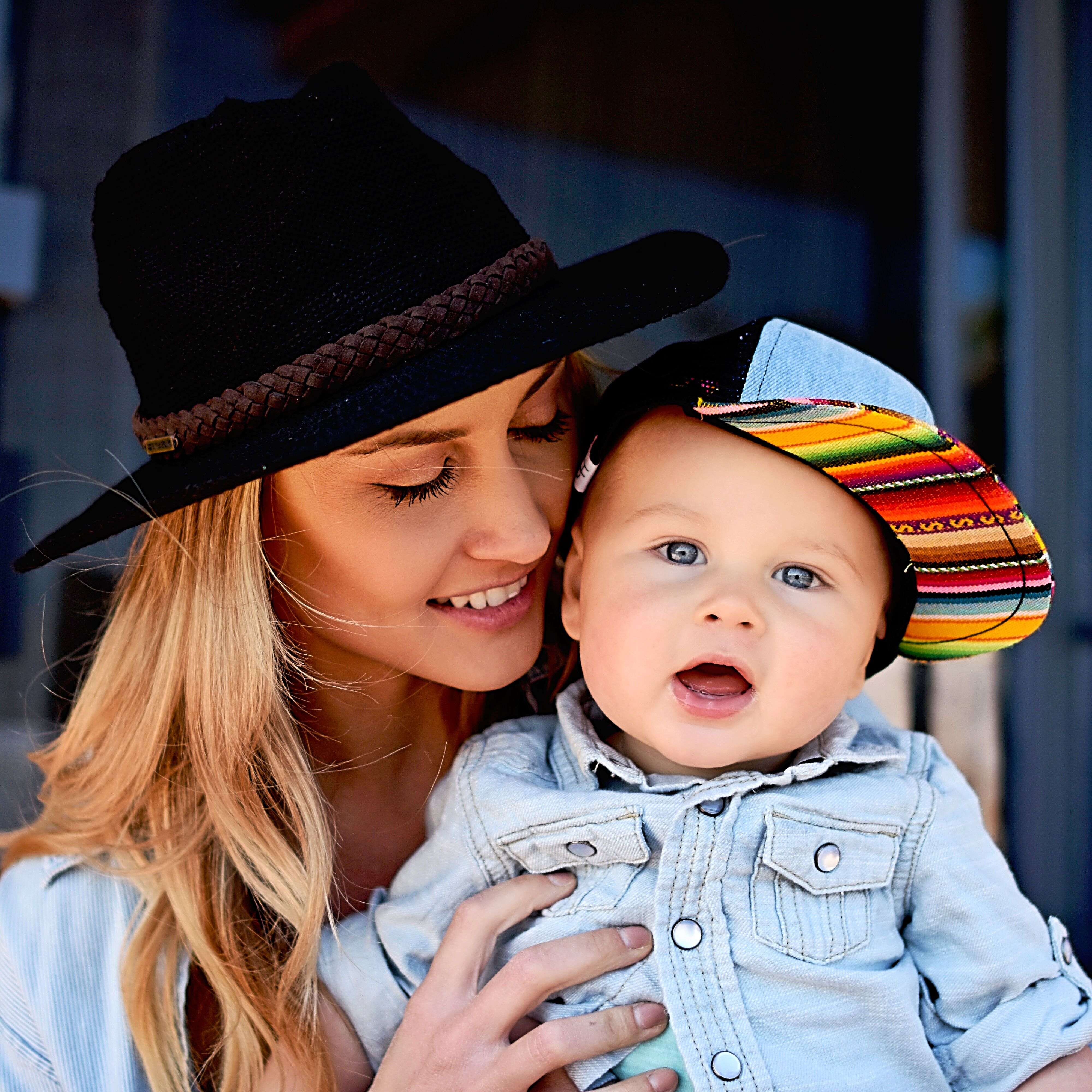 6ad195378 Mama & Baby Style! Serape trucker hat @george_hats | Style with your ...