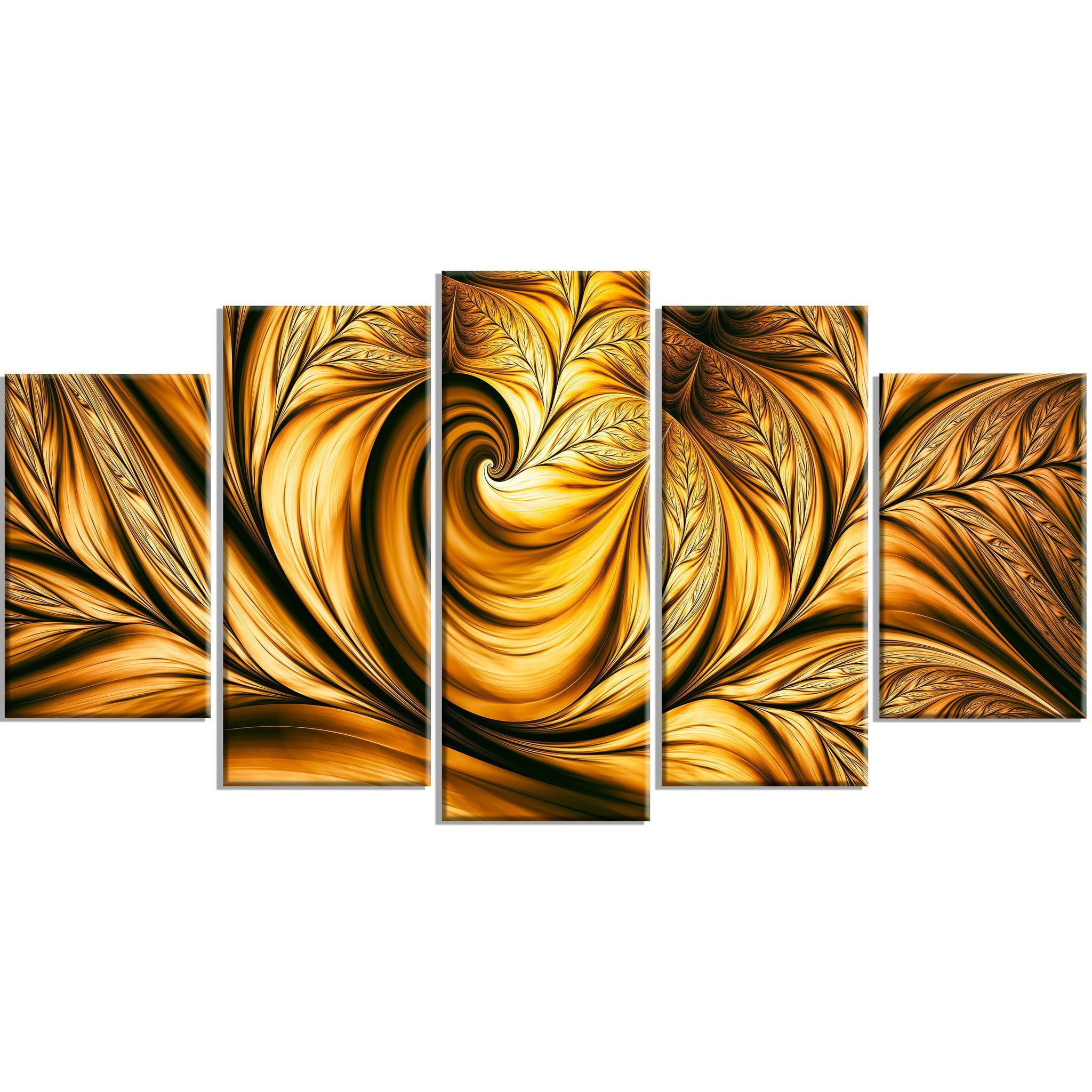 Golden Fantasy Canvas Abstract Wall Art Print | Abstract wall art ...