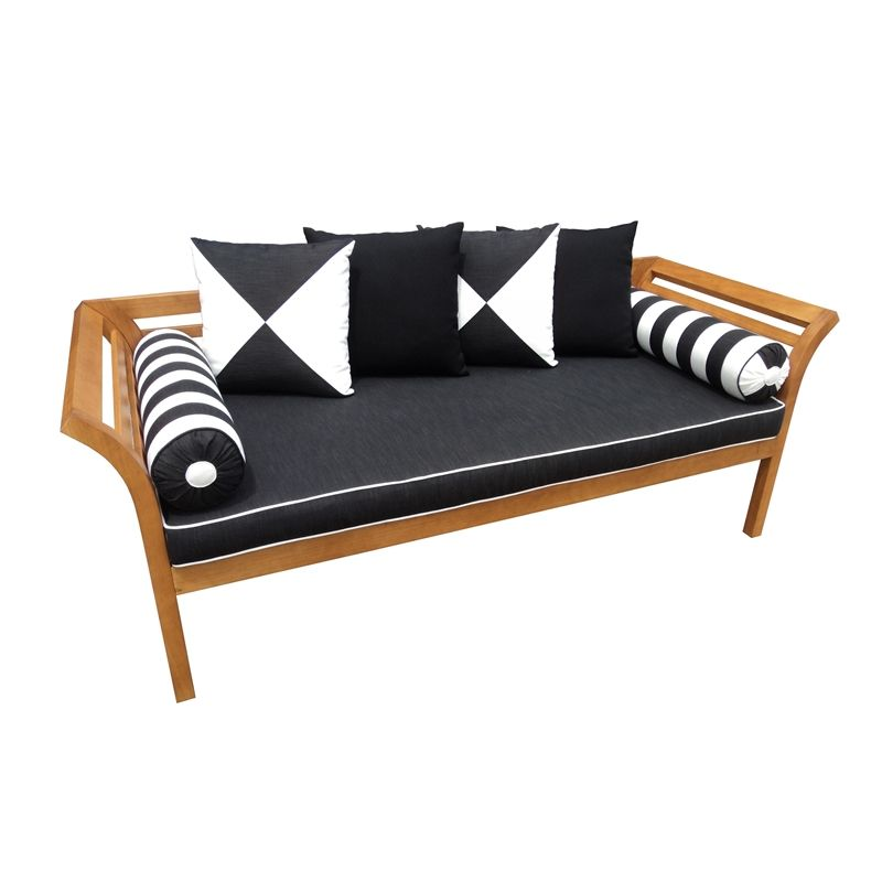 Mimosa Curved Timber Day Bed With Cushion I/N 3191382 | Bunnings ...