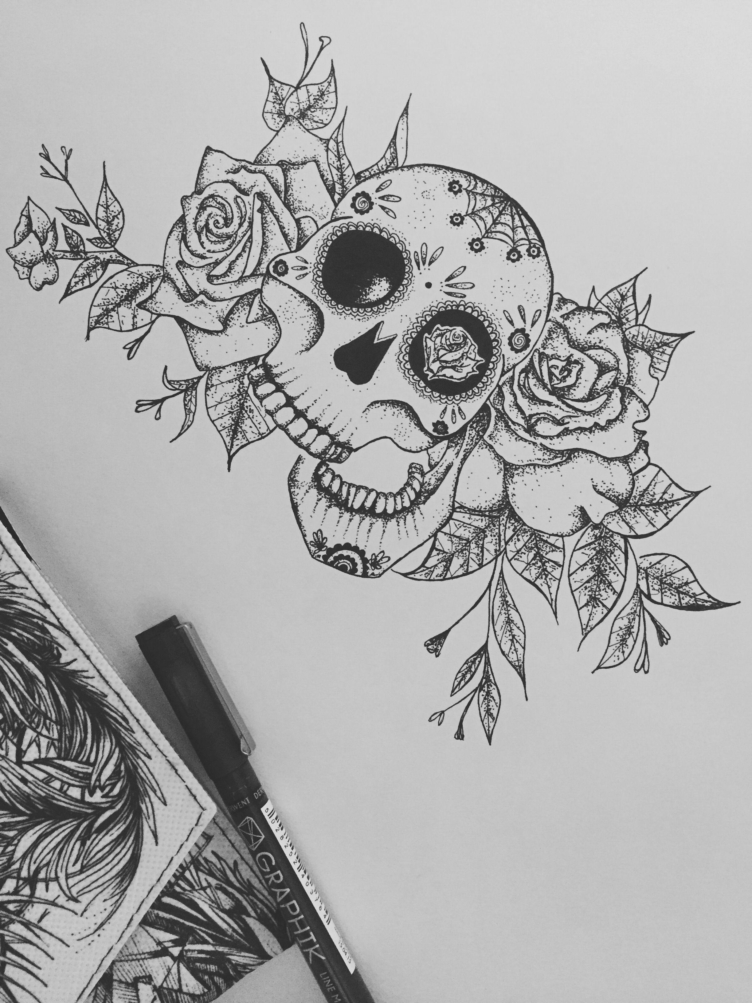 sugar skull // tattoo ideas // skull tattoo // traditional