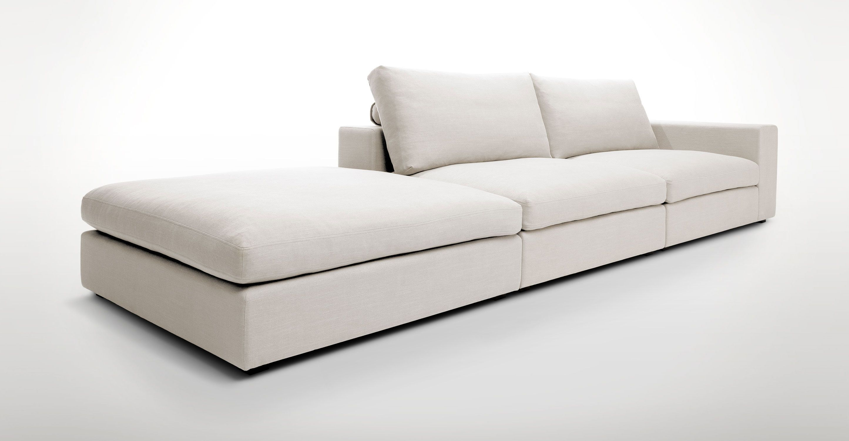 Cube Quartz White Modular Sofa Right Arm Sofas Article Modern Mid Century And Scandinavian Furniture