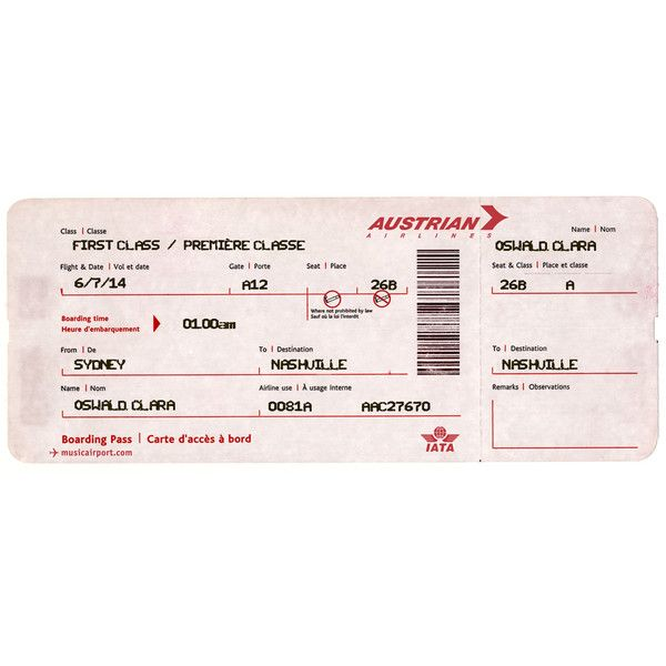 Plane Ticket ❤ liked on Polyvore featuring fillers, accessories - plane ticket template