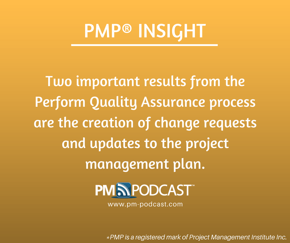 Pmp Insight Two Important Results From The Perform Quality