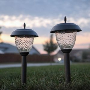 Glossy Brown Willowbrook Solar Path Lights Set Of 8 With Lumabright Tech By Paradise Garden Lights Com Solar Li Solar Path Lights Path Lights Solar Lights