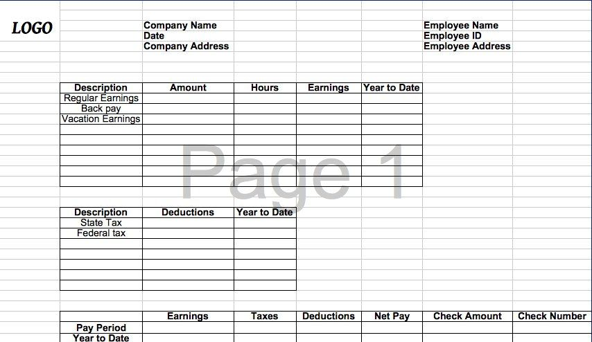 Free Payroll Stub Template Check Stub Template 01  Check Stub3  Pinterest  Template