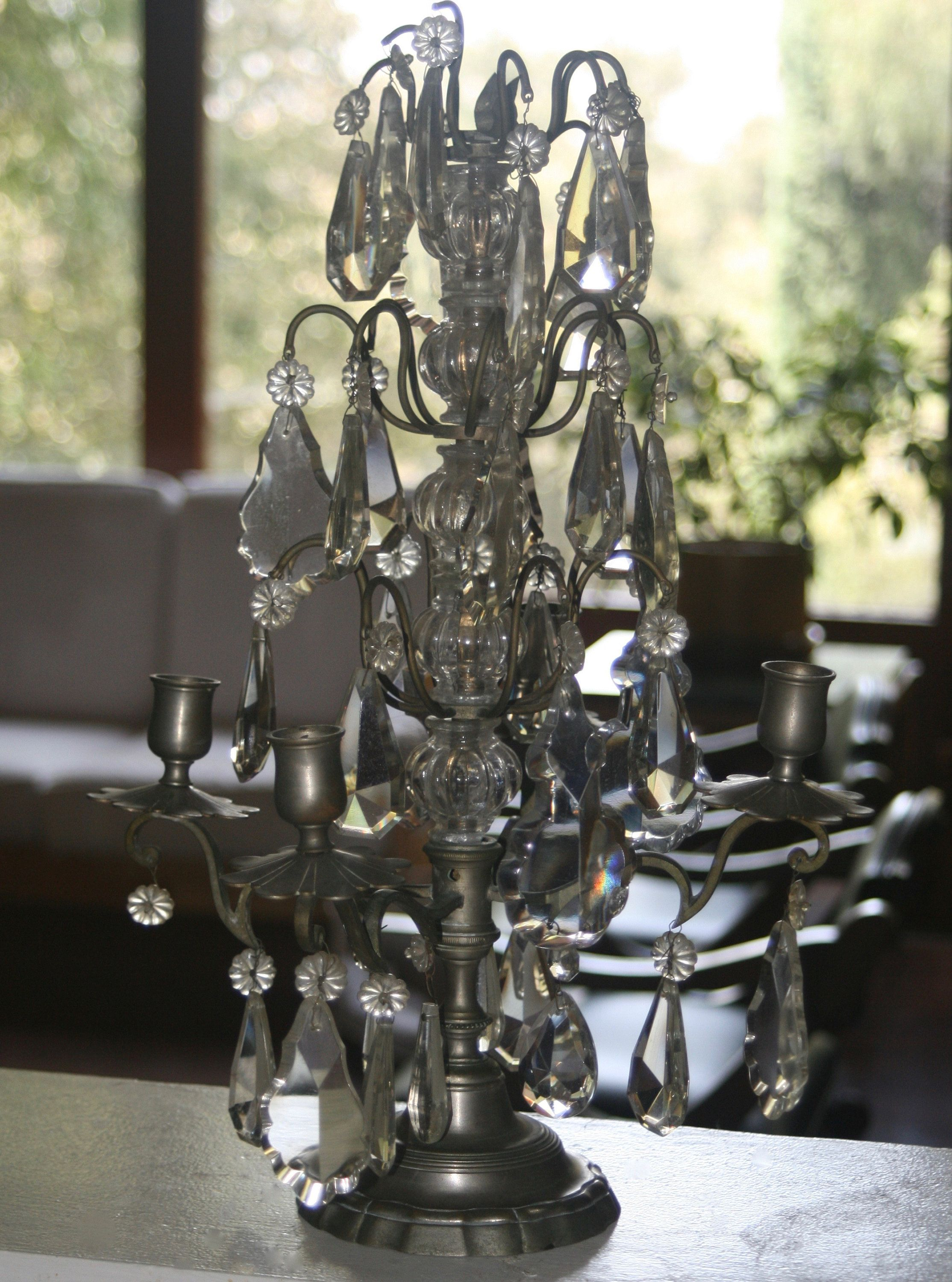 Antique French Girandole Lamp Candelabra Replacement Parts By