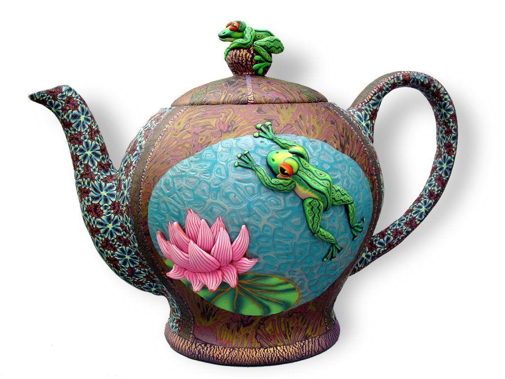 Wanda Shum Design Playing Leapfrog Tea Pots Clay Teapots Frog Tea