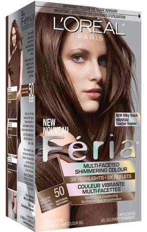 L Oreal Paris L Or Al Paris Feria 50 Shimmering Haircolour Gel Brown Hair Color Loreal Loreal Paris