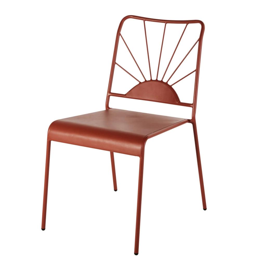 Matte Terracotta Metal Garden Chair Solemio Maisons Du Monde In 2020 Chair Garden Chairs Garden Chairs Metal
