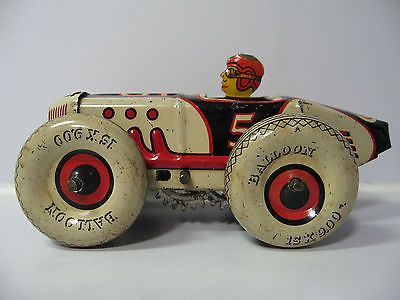 Marx Tin Litho Windup 5 Racer Rare Color Boat Tail Race Car With Balloon Tires Vintage Toys Toys Metal Toys