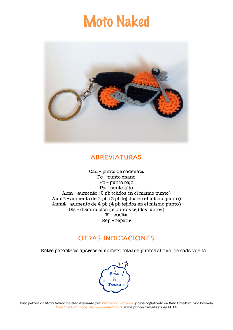 patron moto naked -ES- PuntosDeFantasia.pdf - Google Drive | chulo ...