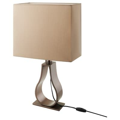 Stiltje Table Lamp With Led Bulb Off White Aluminum Color Ikea In 2020 Lamp Table Lamp