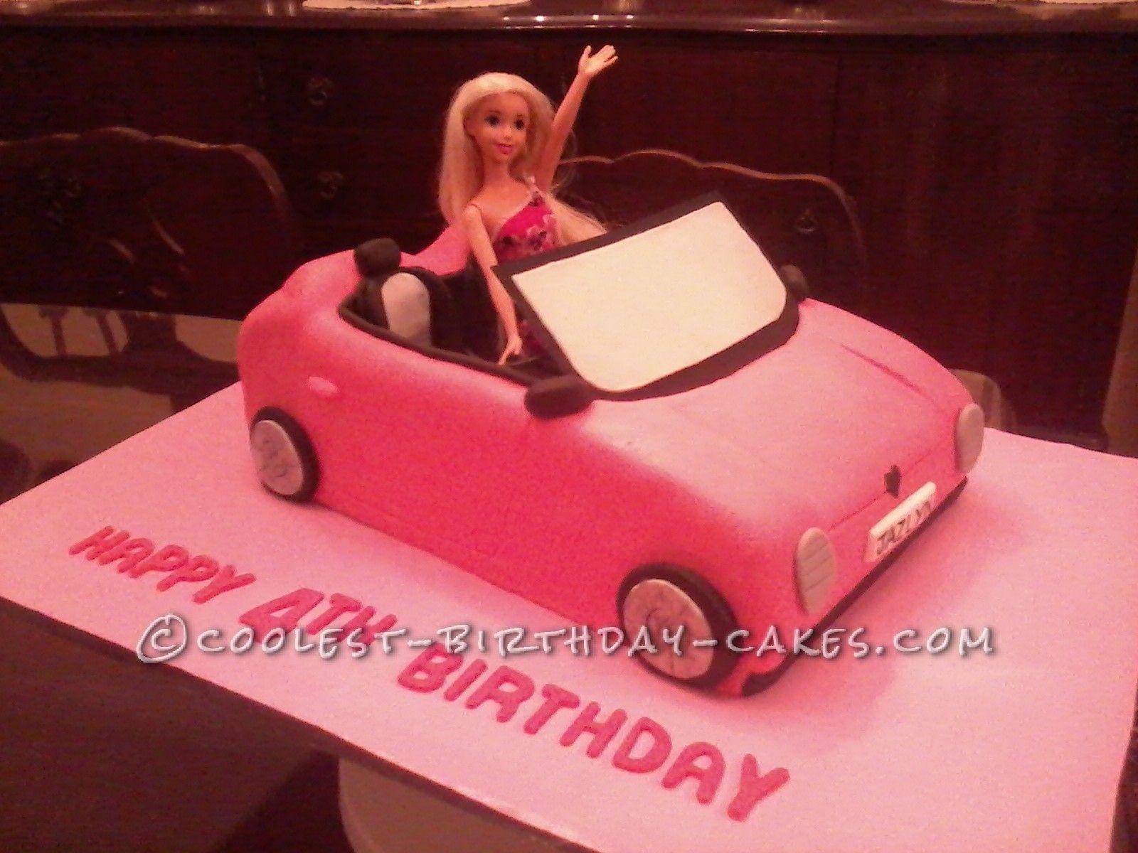 Coolest Barbie S Car Birthday Cake