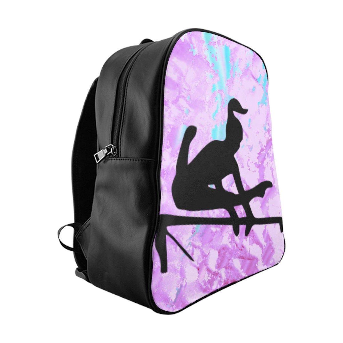 b264c45d5f57 Girls Gymnastics Uneven Bars Purple / Blue Abstract School Backpack ...