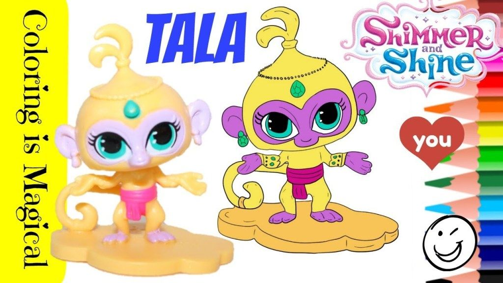 Tala The Monkey From Shimmer And Shine Coloring Shimmer N Shine Shimmer My Busy Books