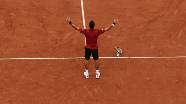 Novak Djokovic wins the one that had eluded him, beating Andy Murray in the French Open final 3-6, 6-1, 6-2, 6-4. #tennis