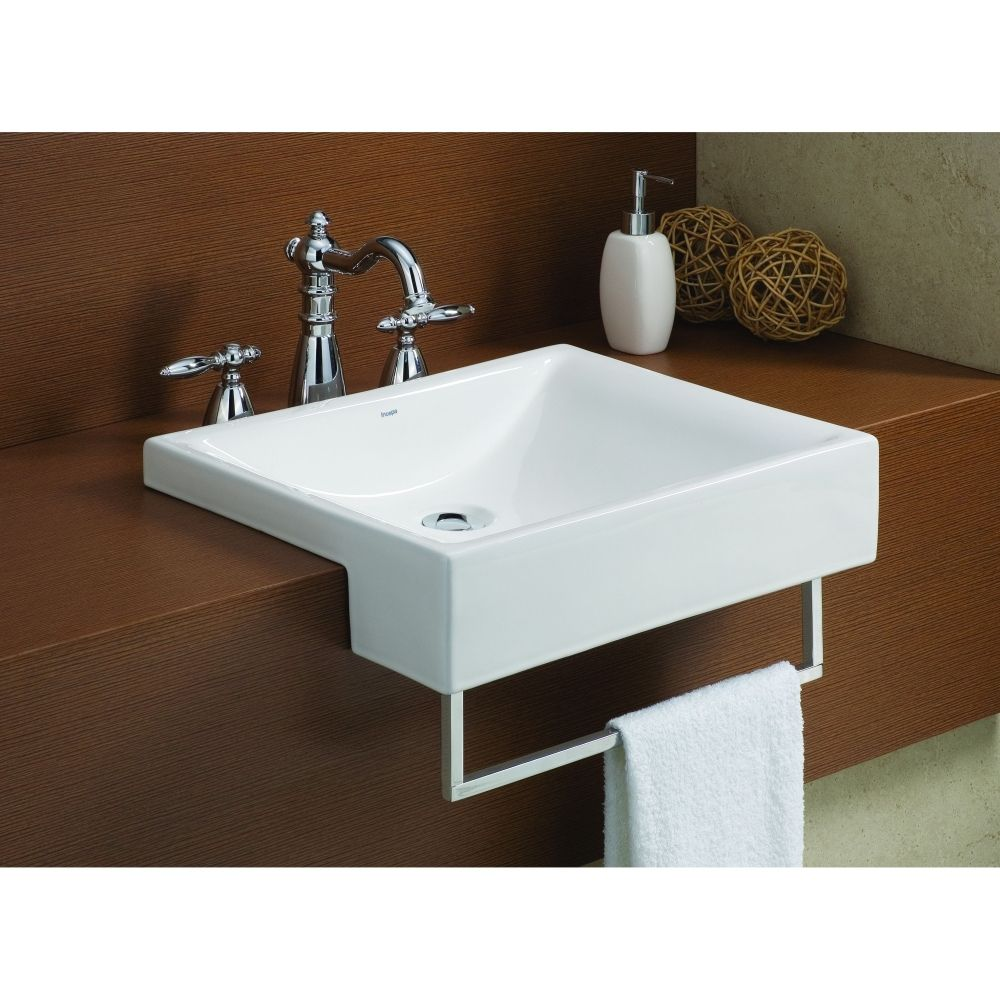 Cheviot 1649 Wh Pacific White Drop In Single Bowl Bathroom Sinks