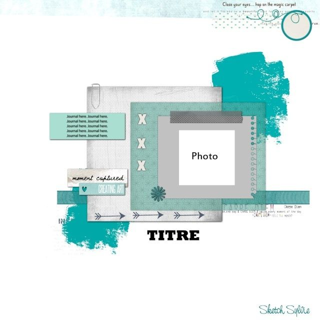 Great single photo LO sketch. #scrapbooking #scrapbook #layouts #sketches #templates