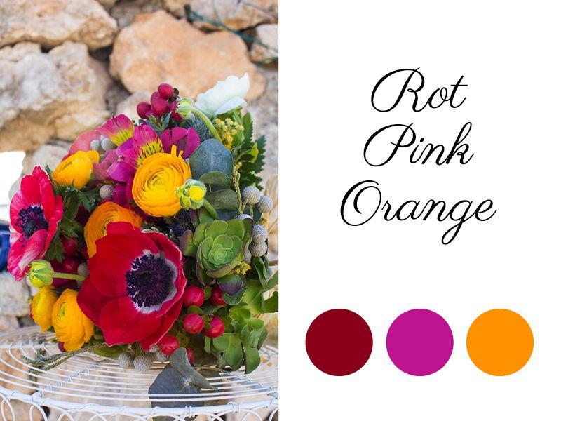 Red-Orange-Pink wedding colors, Rot-Orange-Pink Hochzeitsfarben ...
