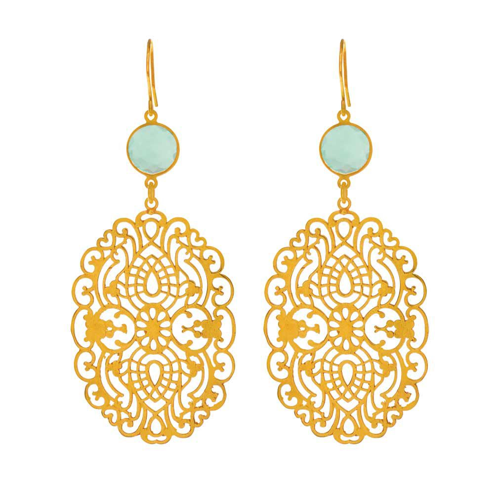 Ohrringe schmuck  Ohrringe Oriental Dream - Leaf - Schmuck & Accessoires | Hochzeits ...