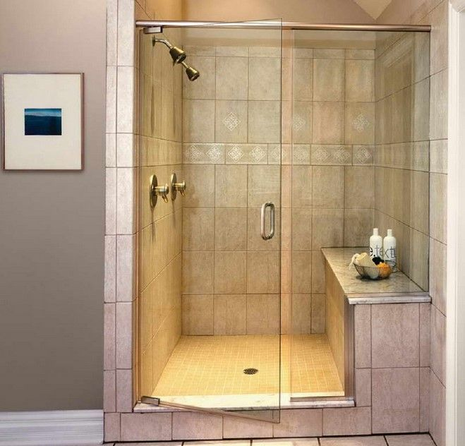 Stunning Small Bathroom Designs With Walk In Shower Shower Seat Shower Room With Glass Door Gray Paint Wa Shower Doors Bathroom Shower Stalls Shower Stall Kits