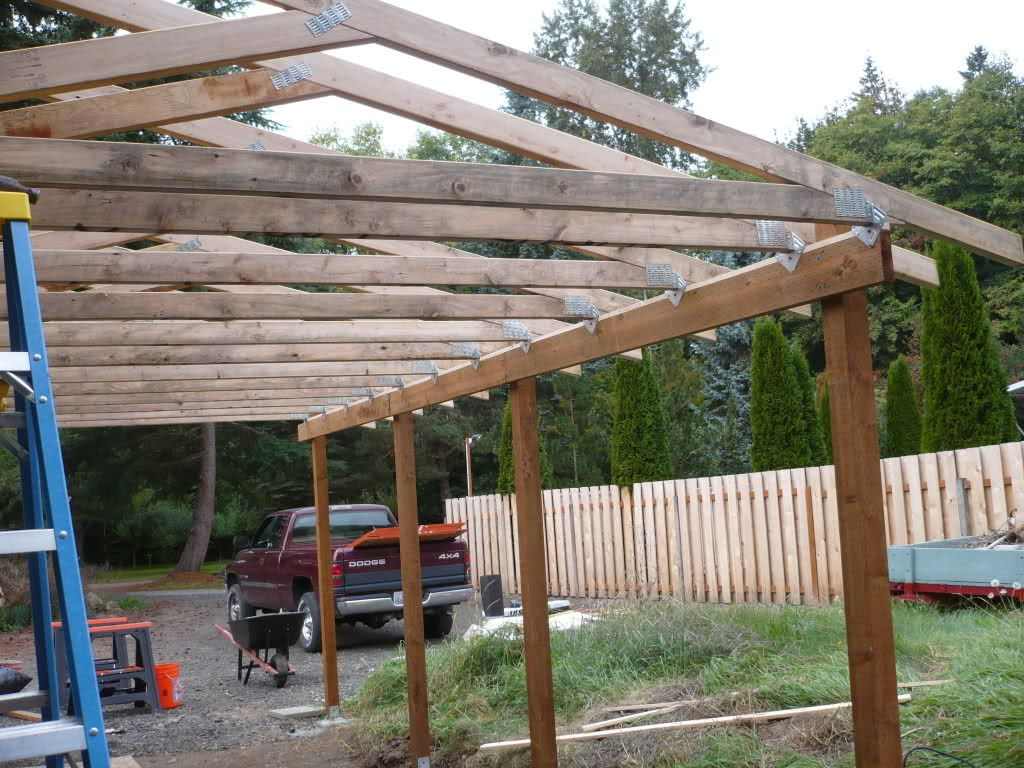 Lean to carport build the garage journal board shed for Car lean to