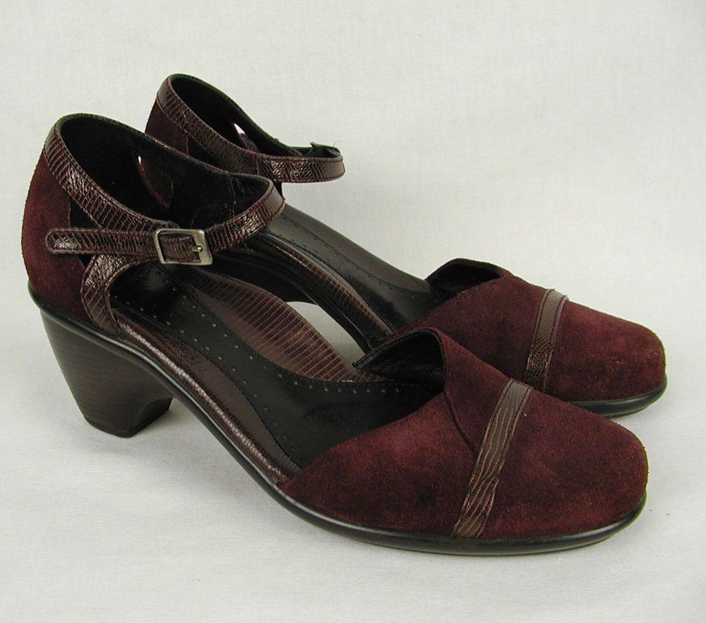 Dansko Womens Leather Black Size 7.5 - 8 Shoes 38 Ankle Heels Slip On
