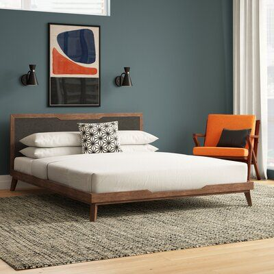 Modern Rustic Interiors Ronan Upholstered Platform Bed Size