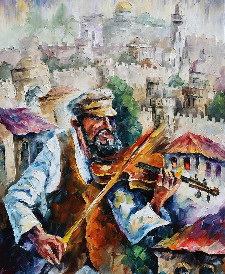 Fiddler  - Commissioned painting Painting  - Fiddler  - Commissioned painting Fine Art Print