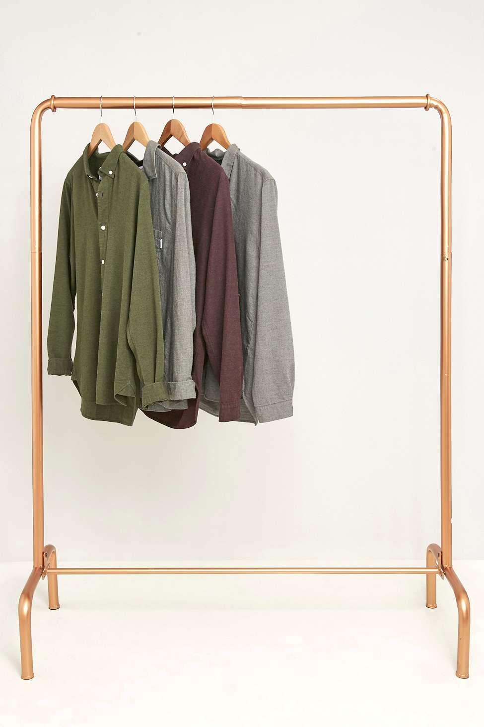 Gold Rail Clothing Rack Clothing Rack Clothes Rail Rails Clothing