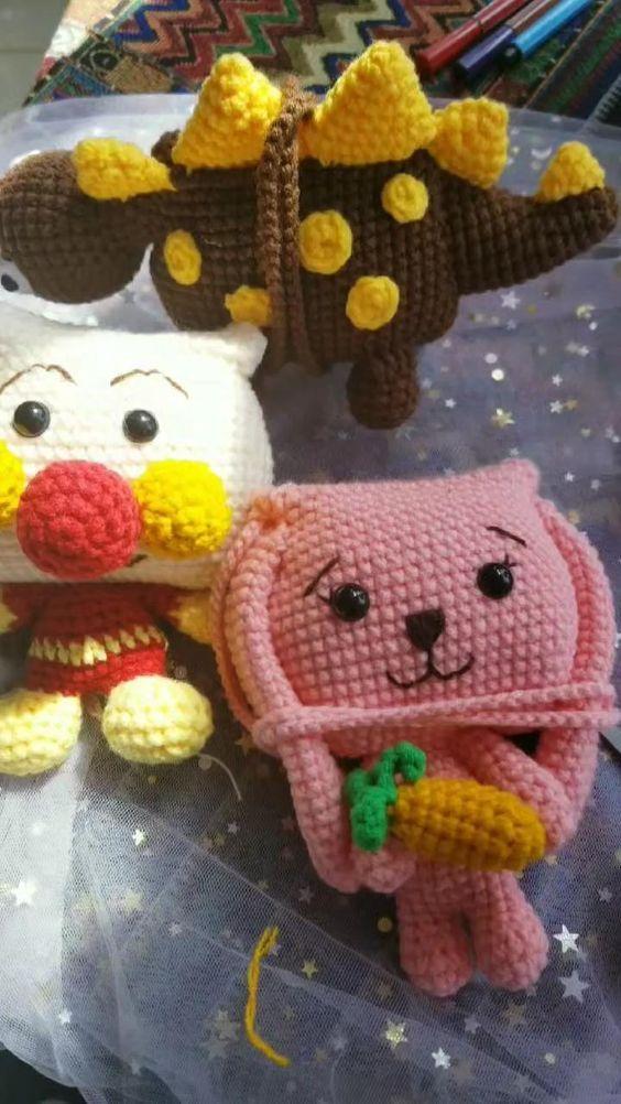 Crochet crossbody bags,Amigurumi bags,crochet bag,