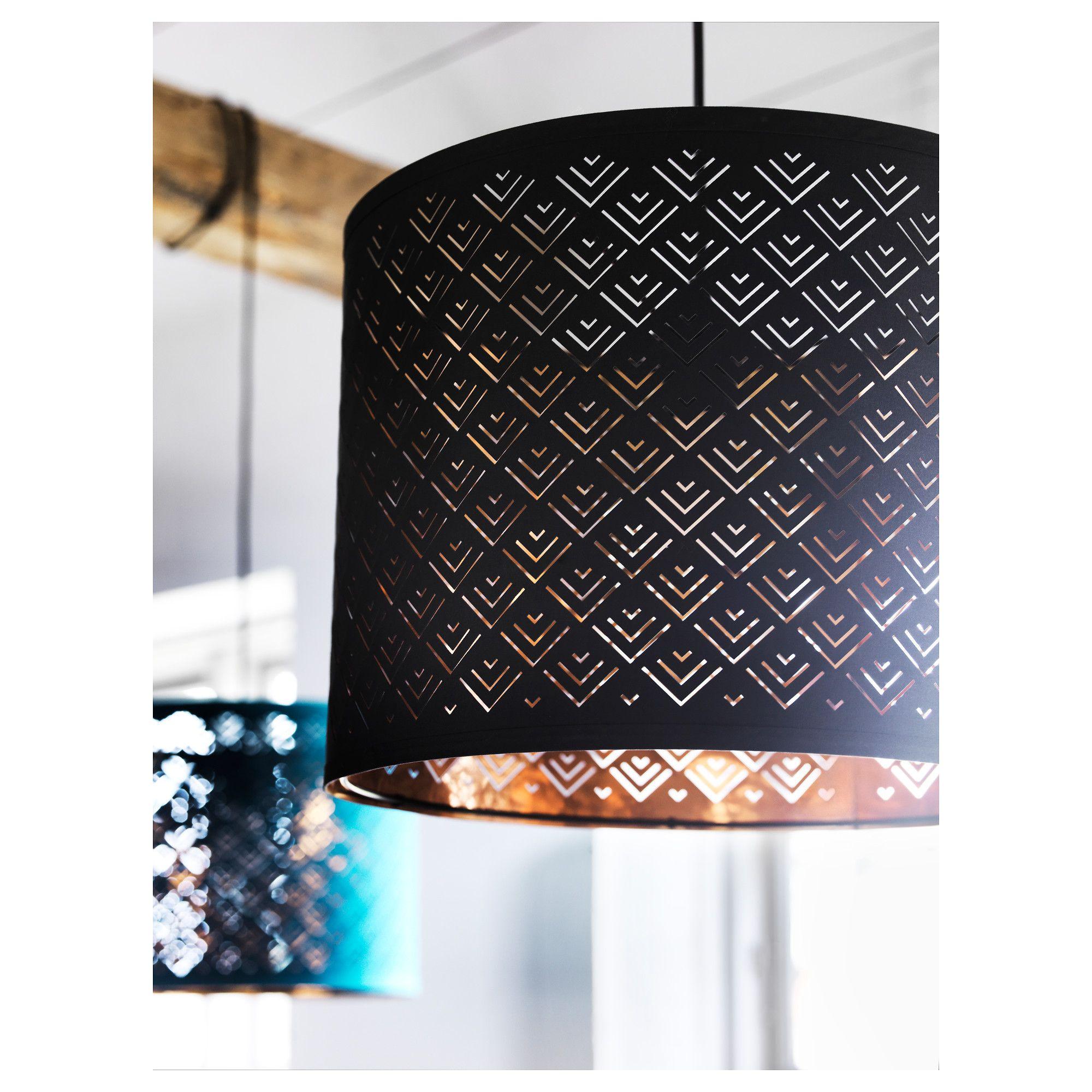 Lamp Shade Nymo Black Copper Colour Height 30 Cm Diameter 37 Cm
