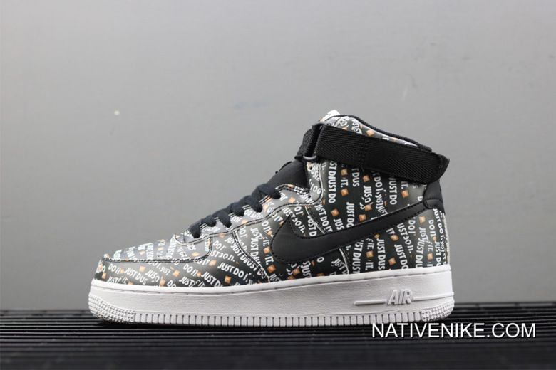 Women Men Nike Air Force 1 High Just Do It Print Authentic