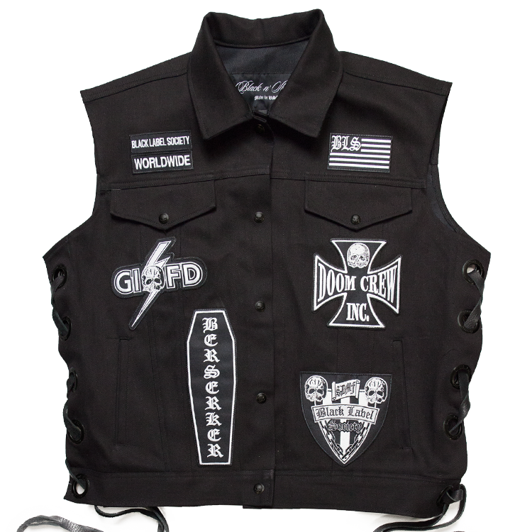 Bls Black Denim Patch Vest Black Label Society Black Black Denim