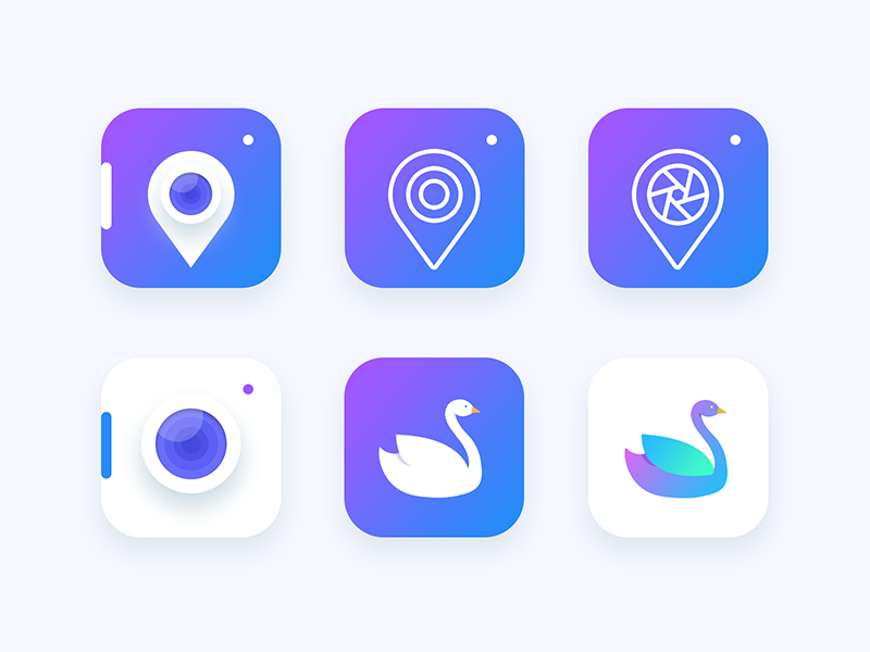 Location based Photography app icon Exploration App icon