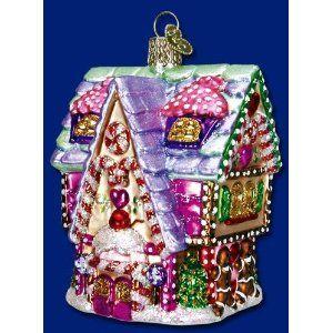 CUPCAKE COTTAGE Candyland Christmas Ornament Old World