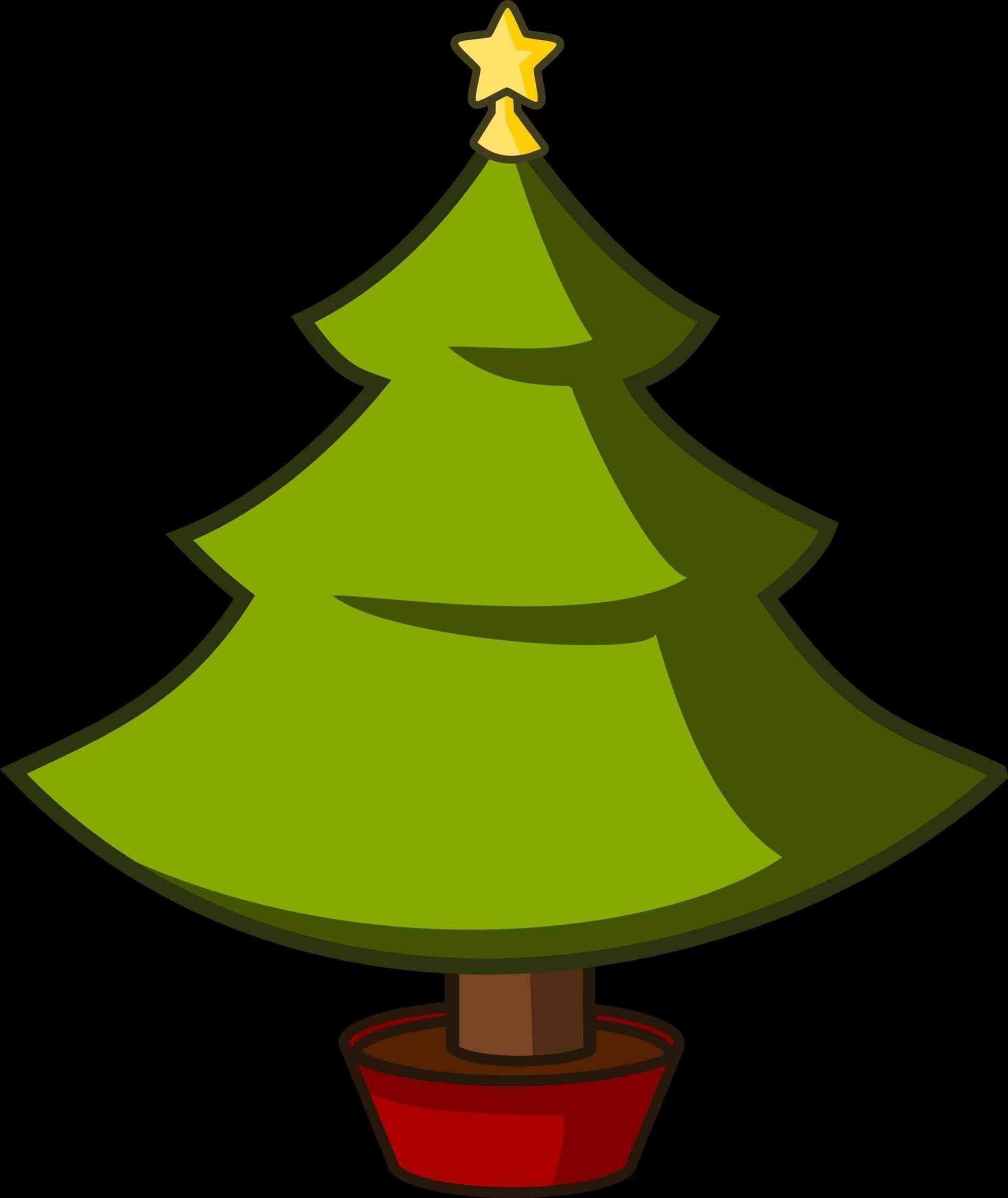 Xmast Site Cartoon Christmas Tree Christmas Tree Images Simple Christmas Tree