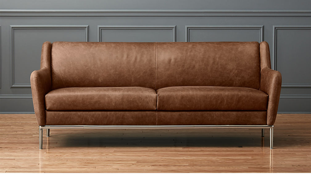 Alfred Distressed Brown Leather Sofa Reviews Cb2 Cognac Leather Sofa Leather Sofa Brown Leather Sofa