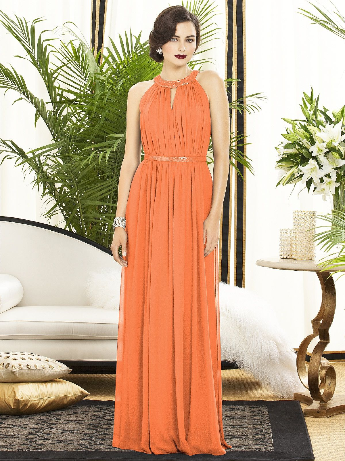 85e2be8e0e Very glamorous and would be very flattering on fuller figures Dessy  Bridesmaid Dresses