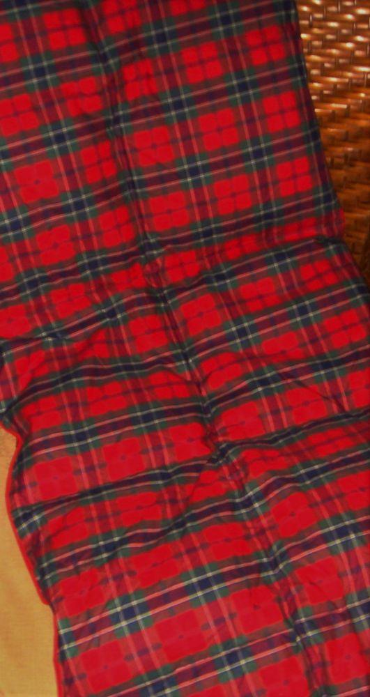 Restoration Hardware Down Fill Lap Duvet Throw Blanket Red Tartan Plaid 40x60 Restorationhardware Contemporary