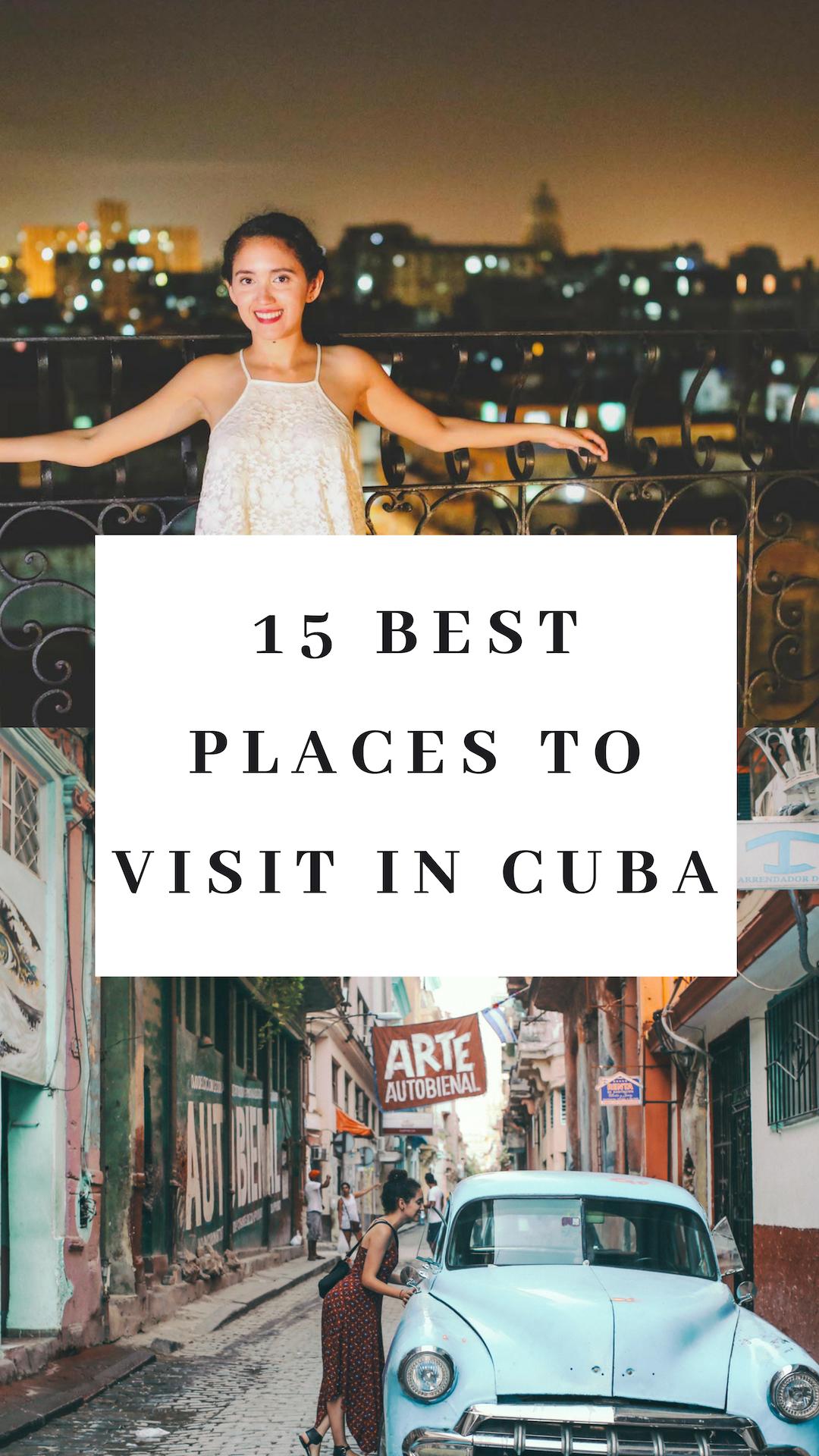 15 best places to visit in Cuba from east to west. Curated by a Cuba travel expert and with top insights from professional travel bloggers. Visiting Cuba and can't decided which destinations to visit? This is your guide to the regions, places, parts and unique cities of Cuba that can't be missed on your next trip!