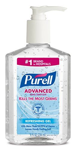 Purell 9652 Advanced Instant Hand Sanitizer 8 Ounce Pump Bottle