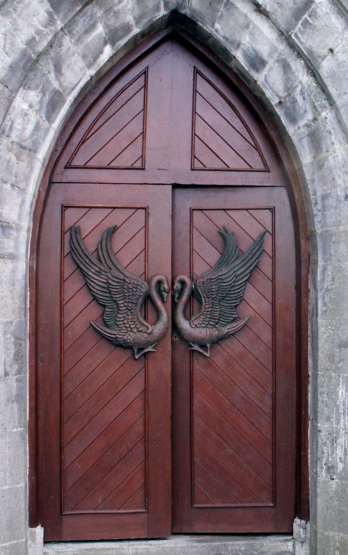 Monastery Door at Drumcliffe county Sligo Ireland. (Grave site of W.B. Yeats) & Monastery Door at Drumcliffe county Sligo Ireland. (Grave site of ...