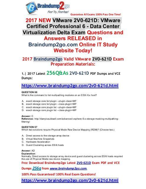 2017-July-VersionNew 2V0-621D VCE and PDF Dumps Dumps 256Q Free - professional reference